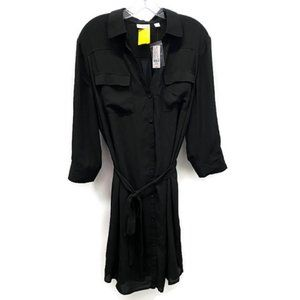 New York & Company Black Shirt Dress